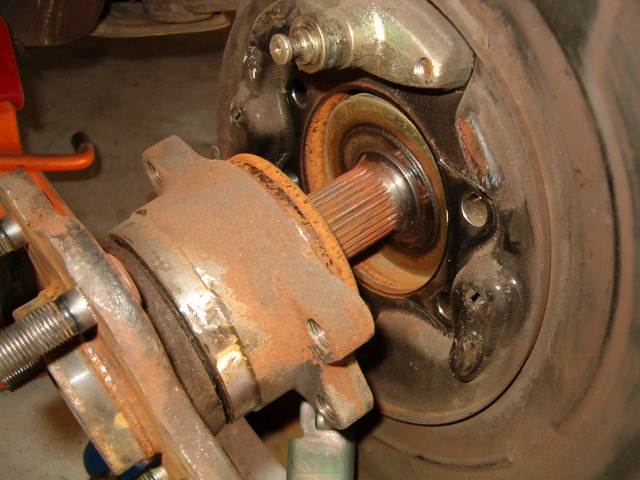 Rusted Wheel Bearing Hub Honda Tech Honda Forum Discussion